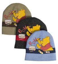 79e820c2584 Winnie The Pooh Boys Beanie Hat - Blue Black Beige