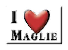 CALAMITA PUGLIA ITALIA FRIDGE MAGNET MAGNETE SOUVENIR I LOVE MAGLIE (LE)