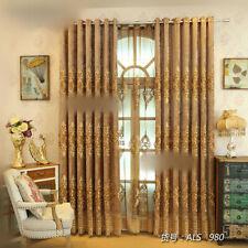 Custom luxury European gold livingroom velvet embroidery blackout curtain  M699