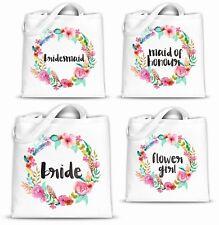 WEDDING BRIDE BRIDESMAID MOTHER HEN TOTE SHOPPER SHOPPING BAG PERSONALISED