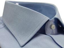 Camicia uomo Bagariny sartoriale cotone Royaloxford regular fit col. cielo Made