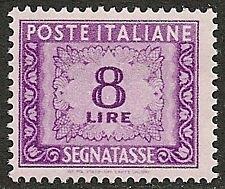 Italy 1955 YV Due 8  MNH  VF