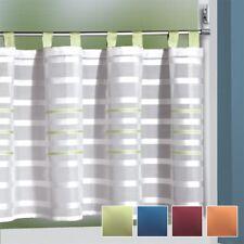 Scheibengardinen mit Schlaufen 140x50 cm in Weiß mit Grün / Blau / Rot / Orange