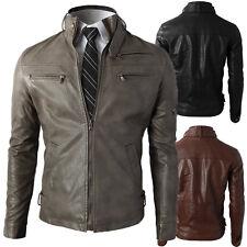 Giacca Giubbotto in Pelle Uomo Men Leather Jacket Veste Blouson Homme Cuir N9a