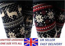 Women Ladies Christmas Snowflake Reindeer Pattern Fashion Leggings