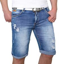 da uomo pantaloncini jeans pantaloni corti bermuda short estate Destroyed h-082