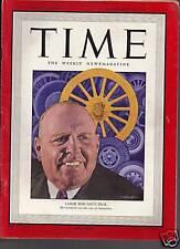 Time Magazine Labor Boss Dave Beck  November 29, 1948