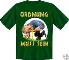 geil bedruckte Garten Fun T-Shirts T Shirt - Ordnung muss sein - Spass Geschenk