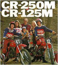 HONDA Brochure CR250 CR250M and CR125 CR125M VMX 1976 & 1977 Sales Catalog REPRO