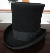 Vintage 100% Wool Victorian Mad Hatter Top Hat Vivi Magic Hat Performing Caps