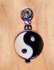 ying yang charm black & white phone charm anti-dust 3.5mm iphone 4 4s