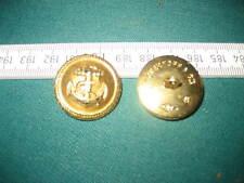 Marine Anker Gold farbener Knopf gestempelt Overhoff & Cie 25 M OLC  BW ? 2 WK ?