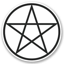2 x Pentagram Symbol Vinyl Sticker Laptop Travel Luggage Car #5247