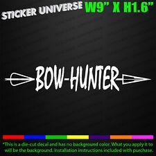 Bow Hunter Arrow Truck Car Window Decal Bumper Sticker Compound Archery Deer 217