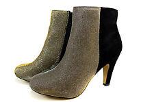 Elegante Damen Boots Herbst Stiefeletten Stiefel Gr.36-41 A2114 Gold SuperMe NEU