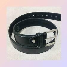 Piel natural + polipiel Cinturones Jeans ELEGANTE negro nuevo (16)