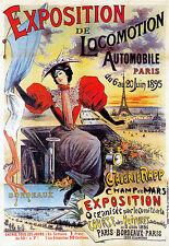 Automobile Expo - Paris 1895 Car A3 Art Poster Print
