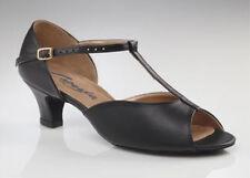 Capezio BR14 'Latina T-Strap Sandal' - Salsa,Ceroc,Latin & Ballroom - Black. UK3