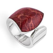 """DUR Schmuck Ring """"Baltrum"""" Koralle poliert Silber 925/- (R4036)"""