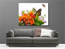 Cuadro pinturas decoración en kit Flores mariposa ref 1576435