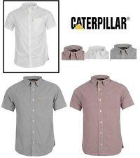 Mens CATERPILLAR Short Sleeve Shirts Vintage Series 100% Cotton Sz: S-XL Bargain