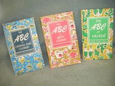 3 ABC OF SALADS, ABC OF JIFFY COOKERY &CHAFING DISH COOK BOOKS 1958  HCDJ McCREA