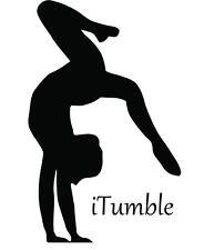 "LARGE Gymnastics Sticker / iTumble Girls Vinyl Wall Decal 22""x16"" [Sports 24]"