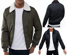 Threadbare Poacher Sherpa Collar Quilt Jacket Warm Bomber Fashion Quilt Coat