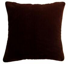 Mb65a Brown Plain Flat Velvet Style Cushion Cover/Pillow Case *Custom Size*