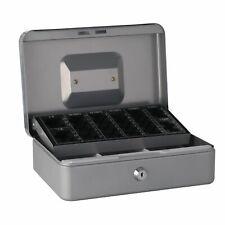 Geldkassette Münzkassette Geldzählkassette Stahl silber, blau versch. Größen