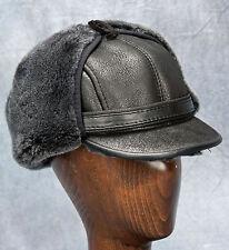 NEW Elmer Fudd Hat (Black) - 100% Sheepskin by Northern Hats (SKU: 18K-BLK)