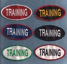 """TRAINING -  2""""h x 4""""w oval -- service dog vest patch --"""