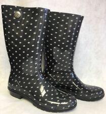 Ugg Australia Boots Shaye Rain Rubber Boots Black White Polka Dots Dot 1019687