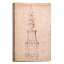 Michelangelo design candelabro quadro stampa tela dipinto telaio arredo casa