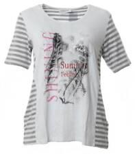 Chalou ❤ kurzarm t-Shirt Damen Weiß mit Strass große Größen Übergrößen