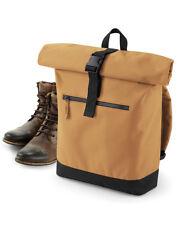 Bagbase Roll-Top Backpack BG855 School Sports Work Bag Fashionable Rucksack Bags
