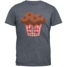 Valentine's Day Sorry Cupcakes Dark Heather Grey Adult T-Shirt