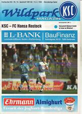 BL 91/92 Karlsruher SC - FC Hansa Rostock