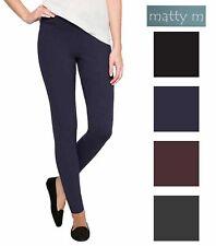 bb703e1611c22f New Matty M Ladies' Slub Ponte Pants Pull On Mid-Rise Variety Choose Size