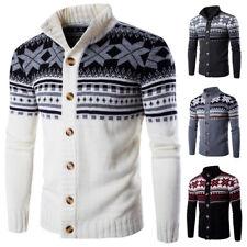 Christmas Mens Novelty Knitted Jumper Sweater Retro Vintage black grey Xmas gift