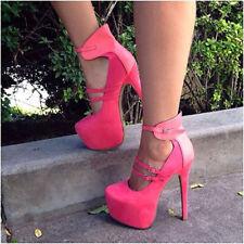 f73510f6ba32 NICE Women Pumps Faux Leather Platform High Heels Pumps Shoes Women Big  Size 20