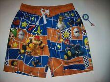 Nintendo Swimsuit Swimwear Trunks Bathing Suit Boys 4 5 6 7 Mariokart 7 NWT