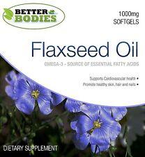 Flaxseed Oil 1000mg Softgels Omega 3 6 9 Flax Seed Linseed Oil