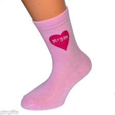 Personalised Girls Name Heart Childrens Socks - will suit Boy or Girl kids socks