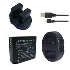 Battery / Charger for Panasonic DMW-BLE9E DMW-BLG10,Lumix DC-ZS200/TZ200 TZ220