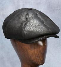 NEW Newsboy Cap (Black) - 100% Sheepskin by Northern Hats (SKU: 08K-BLK-AS)