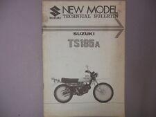 Suzuki Factory Technical Bulletin 1976 TS185A TS185 A