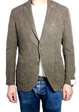 L.B.M 1911 giacca uomo sfoderata malfilè moro 50% lino 50% poliestere