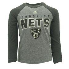 Brooklyn Nets Official NBA Adidas Youth Kids Size Long Sleeve Shirt New