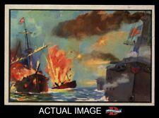 1954 Bowman U.S. Navy Victories #6 Spanish Fleet Destroyed EX/MT